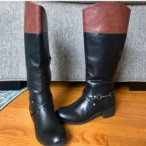 Nautica Tall Leather Riding Boots
